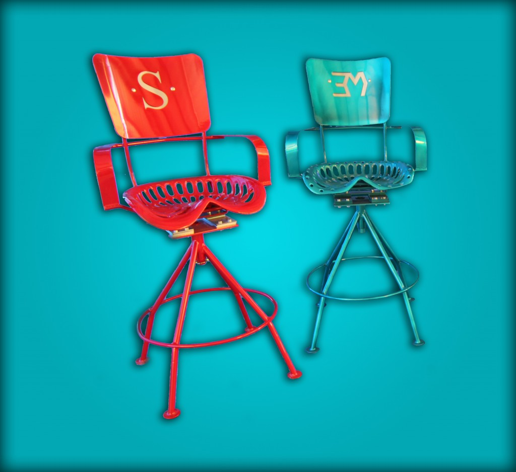 2 of kickin Back Kreations Bar Stools