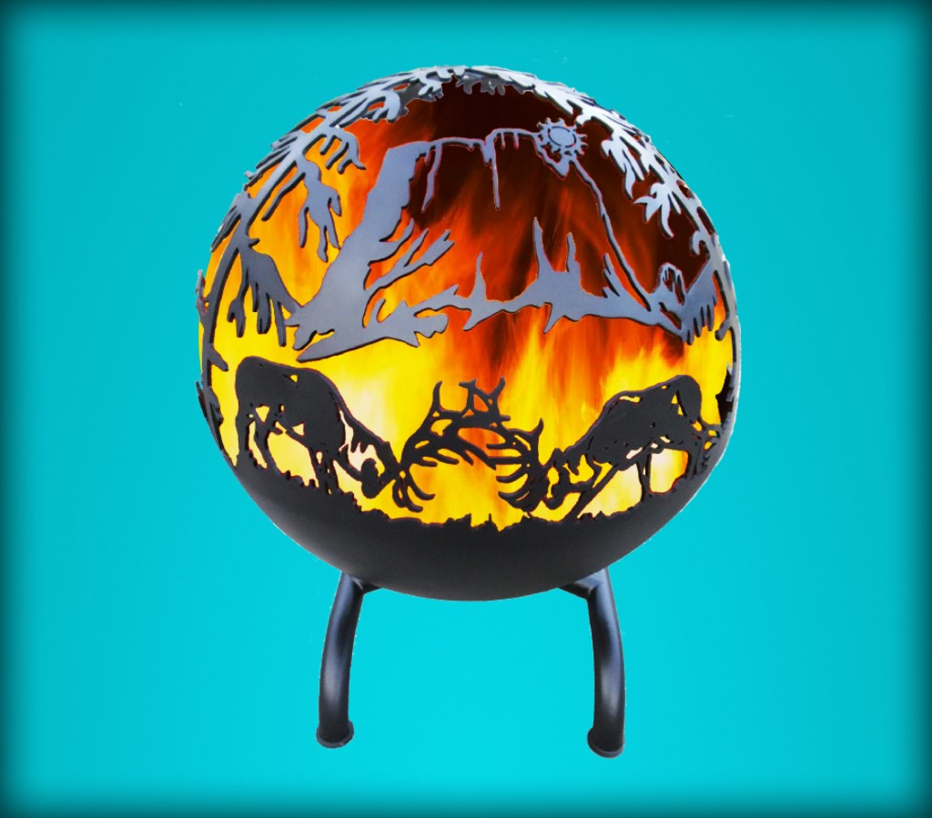 Kickin Back Kreations Great Ball Of fire Elk Fight