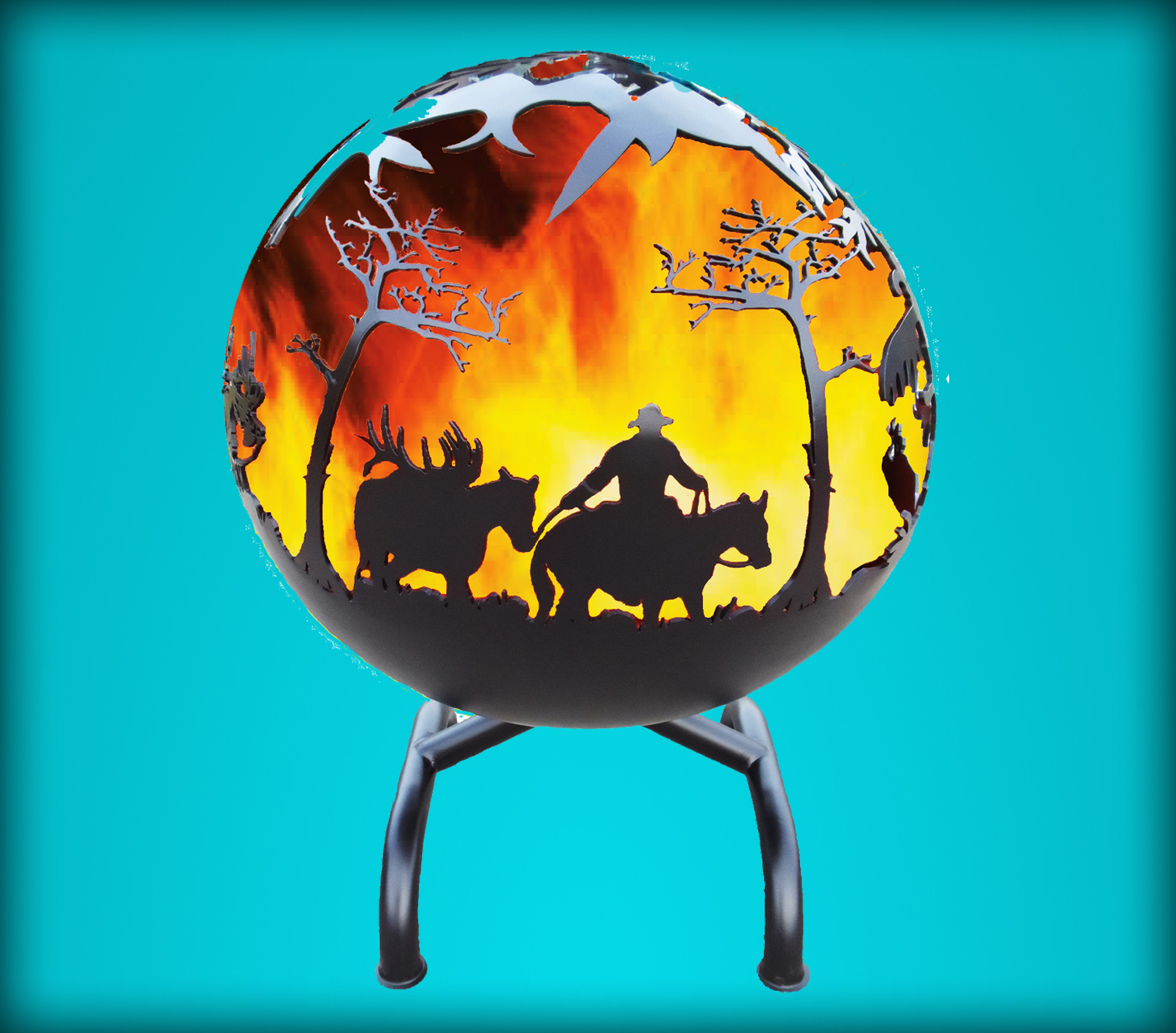 Kickin Back Kreations Great Ball of FirePack  Design, Fire Pit